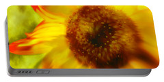 Portable Battery Charger featuring the digital art Sunflower-a-blaze by Janie Johnson