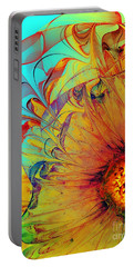 Sunflower Abstract Portable Battery Charger