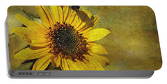 Sunflower And Bumble Bee Portable Battery Charger