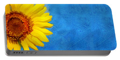 Sunflower Art Portable Battery Charger by Ann Powell