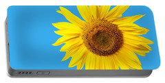 Sunflower Blue Sky Portable Battery Charger by Edward Fielding