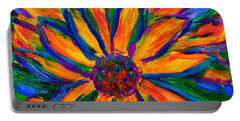 Sunflower Burst Portable Battery Charger