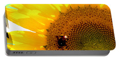 Portable Battery Charger featuring the digital art Sunflower by Daniel Janda