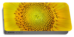Sunflower  Portable Battery Charger by Edward Fielding