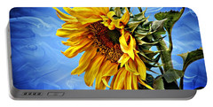 Portable Battery Charger featuring the photograph Sunflower Fantasy by Barbara Chichester