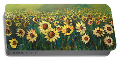Sunflower Field Portable Battery Charger by Dorothy Maier