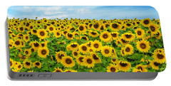 Portable Battery Charger featuring the photograph Sunflower Field by Mike Ste Marie
