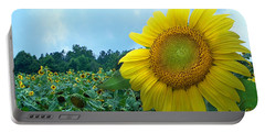 Sunflower Field Of Yellow Sunflowers By Jan Marvin Studios  Portable Battery Charger