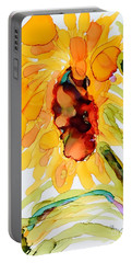 Sunflower Left Face Portable Battery Charger
