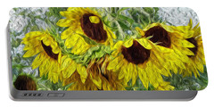 Portable Battery Charger featuring the photograph Sunflower Morn II by Ecinja Art Works