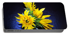 Sunflower Portrait Portable Battery Charger