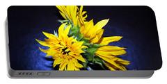 Sunflower Portrait Portable Battery Charger