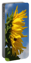 Sunflower Profile Portable Battery Charger