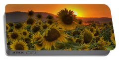 Sunflower Sun Rays Portable Battery Charger