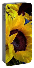 Sunflower Sunny Yellow In New Orleans Louisiana Portable Battery Charger by Michael Hoard