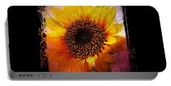Sunflower Sunset - Art Nouveau  Portable Battery Charger by Absinthe Art By Michelle LeAnn Scott