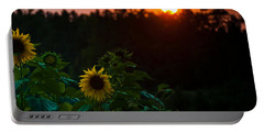 Portable Battery Charger featuring the photograph Sunflower Sunset by Cheryl Baxter