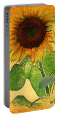 Sunny Sunflower Wall Art Portable Battery Charger