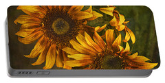 Sunflower Trio Portable Battery Charger by Priscilla Burgers