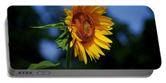 Sunflower With Honeybee Portable Battery Charger by Catherine Sherman