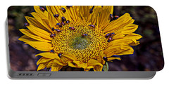 Sunflower With Ladybugs Portable Battery Charger