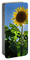 Sunflower With Sun Portable Battery Charger