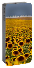 Sunflowers And Airports Portable Battery Charger