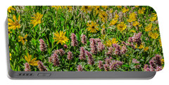 Sunflowers And Horsemint Portable Battery Charger