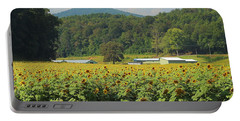 Sunflowers And Mountain View 2 Portable Battery Charger