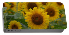 Sunflowers At The Farm Portable Battery Charger