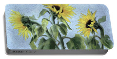 Sunflowers Portable Battery Charger by Cristiana Angelini