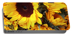 Portable Battery Charger featuring the photograph Sunflowers by Dora Sofia Caputo Photographic Art and Design
