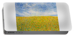 Sunflowers  Field In Texas Portable Battery Charger