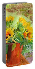 Sunflowers In Copper Portable Battery Charger