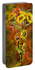Sunflowers In Sunflower Vase Portable Battery Charger