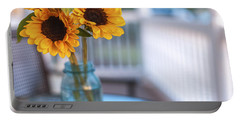 Sunflowers On The Porch Portable Battery Charger