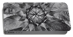 Sunflower's Shades Of Grey Portable Battery Charger by Elizabeth Dow