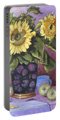 Sunflowers Study By Prankearts Portable Battery Charger