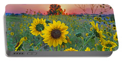 Sunflowers Sunset Portable Battery Charger