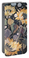 Sunflowers' Symphony Portable Battery Charger
