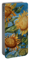 Sunflowers Watercolor Portable Battery Charger