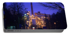 Sunila Pulp Mill By Rainy Night Portable Battery Charger