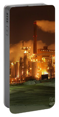 Sunila Pulp Mill By Winter Night Portable Battery Charger
