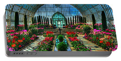 Sunken Garden Marjorie Mc Neely Conservatory Portable Battery Charger by Amanda Stadther