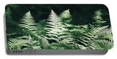 Portable Battery Charger featuring the photograph Sunlight And Shadows-algonquin Ferns by David Porteus