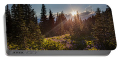 Sunlit Flower Meadows Portable Battery Charger