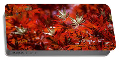Sunlit Japanese Maple Portable Battery Charger by Rona Black