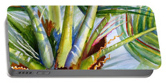 Sunlit Palm Fronds Portable Battery Charger by Carlin Blahnik