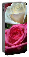 Sunlit Roses Portable Battery Charger by Marie Hicks