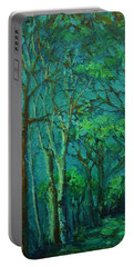 Sunlit Woodland Path Portable Battery Charger